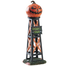Lemax Village Collection Evil Pumpkin Water Tower #83341