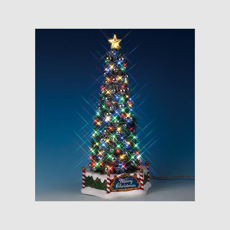Majestic Christmas.Lemax Village Collection New Majestic Christmas Tree 84350