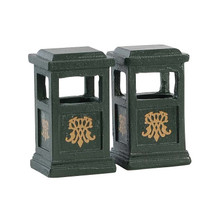 Lemax Village Collection Green Trash Can, Set Of 2 #84386