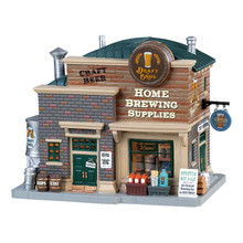 Lemax Village Collection Draft Bros. Home Brewing Supplies #85329