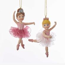 Kurt Adler Ballerina Girl with Tutu Ornament #C7690
