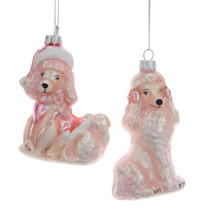 Kurt Adler Pink Poodle Glass Ornament #T2377