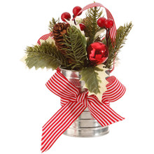 RAZ Holly & Pinecone Arrangement #3702380