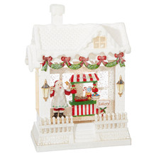 RAZ Baking Santa Lighted Water House #3800779