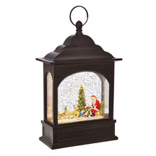 RAZ Santa & Dogs Lighted Water Lantern #3800786