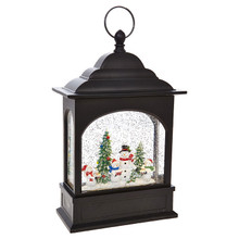 RAZ Snowman Caroler Lighted Water Lantern #3800792