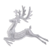 RAZ Silver Glittered Deer Ornament #3809649