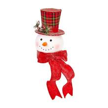 RAZ Snowman Head Tree Topper #3816378