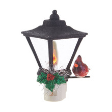RAZ Lantern Nightlight with Cardinal #3819134