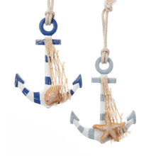 Kurt Adler Coastal Anchor Ornament #G0131