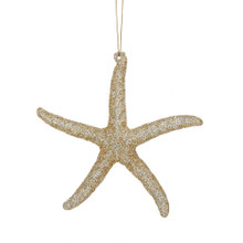 Kurt Adler Glitter Starfish Ornament #T1759