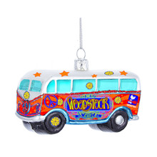 Kurt Adler Woodstock Glass Bus Ornament #WO4181