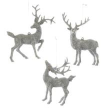 Kurt Adler Silver Deer Ornament #D3054
