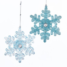 Kurt Adler Icy Blue Snowflake Ornament #T2108