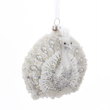 Kurt Adler Glass Peacock Ornament #T2430