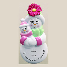 Rudolph & Me Grandma's 1st Christmas Girl Personalized Ornament #RM110G