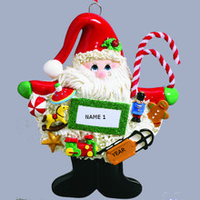 Rudolph & Me Santa with Toys Personalized Ornament #RM1458