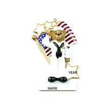 Rudolph & Me Navy Bear Personalized Ornament #RM185