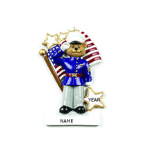Rudolph & Me Marines Bear Personalized Ornament #RM186