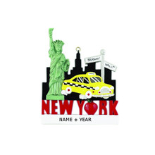 Rudolph & Me New York Taxi Personalized Ornament #RM205