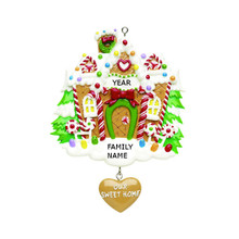 Rudolph & Me Gingerbread House Personalized Ornament #RM223