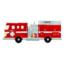 Rudolph & Me Fire Engine Personalized Ornament #RM265