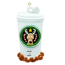 Rudolph & Me Coffee Lover Personalized Ornament #RM301