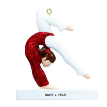 Rudolph & Me Gymnast Personalized Ornament #RM31