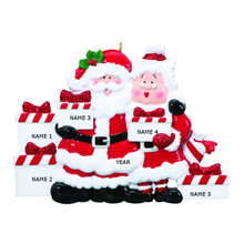 Rudolph & Me Santa & Mrs Claus Family of 5 Personalized Ornament #RM45-5