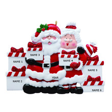 Rudolph & Me Santa & Mrs Claus Family of 6 Personalized Ornament #RM45-6