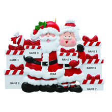 Rudolph & Me Santa & Mrs Claus Family of 7 Personalized Ornament #RM45-7