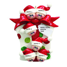 Rudolph & Me Glitter Gift Family of 6 Personalized Ornament #RM907-6