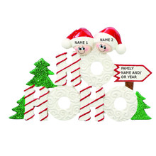 Rudolph & Me Ho Ho Ho Family of 2 Personalized Ornament #RM908-2