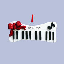 Rudolph & Me Musical Keyboard Personalized Ornament #RM941