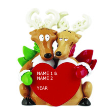 Rudolph & Me Reindeer Couple Personalized Tabletop #TT405