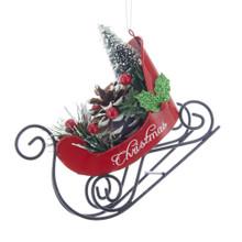 Kurt Adler Christmas Sleigh with Tree Ornament #D3324
