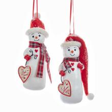 Kurt Adler Snowman Birchberries Ornament #D3359