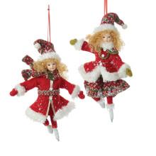 Kurt Adler Northland Skating Girl Ornament #J6038