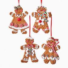 Kurt Adler Gingerbread Boy & Girl Ornament #D3172