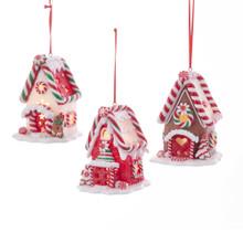Kurt Adler B/O LED Gingerbread House Ornament #D3399
