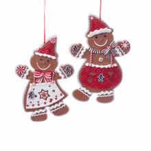 Kurt Adler Boy & Girl Gingerbread Ornament #D3431