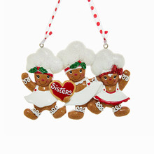 Kurt Adler Three Gingerbread Sister Ornament #H5121