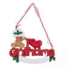 Kurt Adler I Love Grandma Gingerbread Ornament #H5527