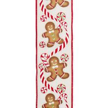 Kurt Adler Gingerbread Candy Print Ribbon #T2204