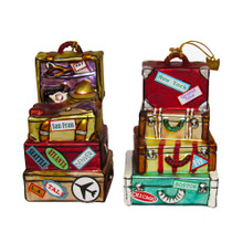Kurt Adler Stack Suitcases Ornament #NB0809