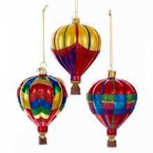 Kurt Adler Hot Air Balloon Ornaments #NB1142