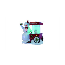 LED Musical Snowman Snowcones Cart #Y3296