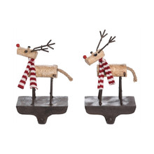 Metal Reindeer Stocking Holder #Y4739