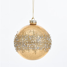 Kurt Adler Gold Ball Glitter Ornament #C4831