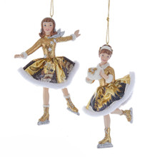 Kurt Adler Winter Wood Skating Ornament #C7661